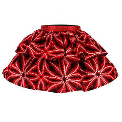 RED TIERED ANKARA PRINT SKIRT