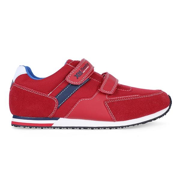 BOYS RED VELCRO CASUAL SNEAKERS