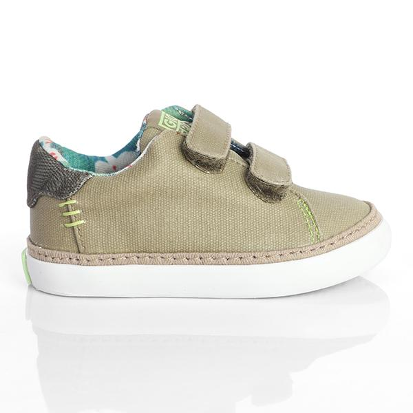 BOYS TAUPE CASUAL VELCRO SNEAKERS