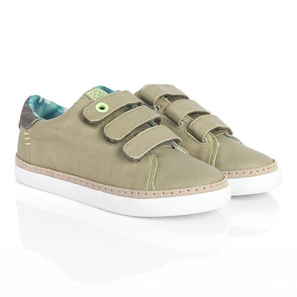 TAUPE CASUAL VELCRO SNEAKERS