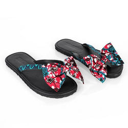 TURQUOISE BOW APPLIQUE SLIPPER