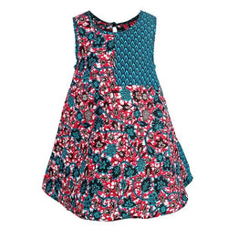 TURQUOISE ANKARA SHIFT DRESS - ruffntumblekids