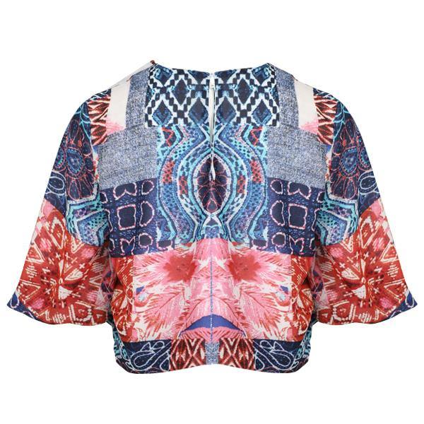 GIRLS CHIFFON PRINT BLOUSE - MULTI-COLORED - ruffntumblekids