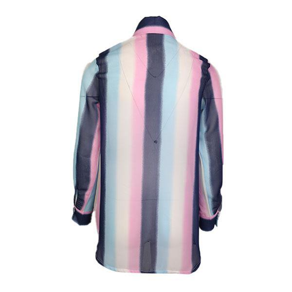GIRLS STRIPE CHIFFON SHIRT - MULTICOLORED - ruffntumblekids