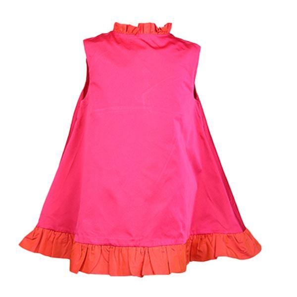 GIRLS SHIFT FLARE DRESS - PINK - ruffntumblekids