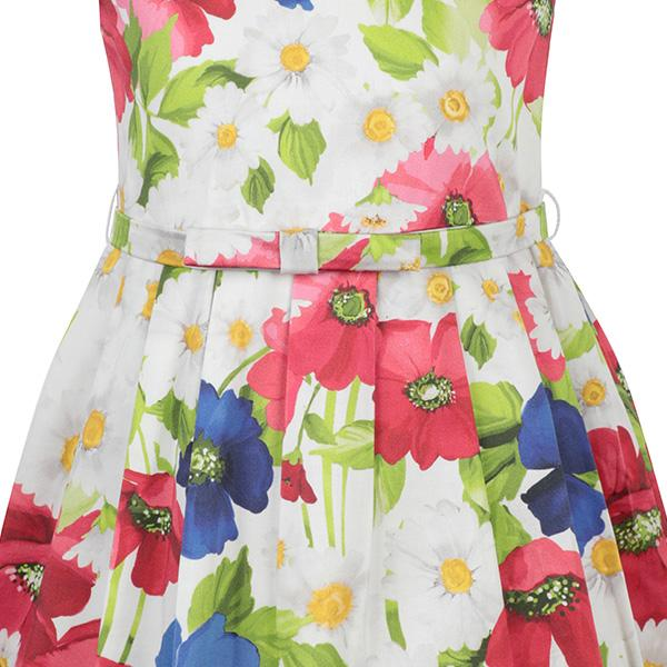 WATERMELON FLORAL  DRESS