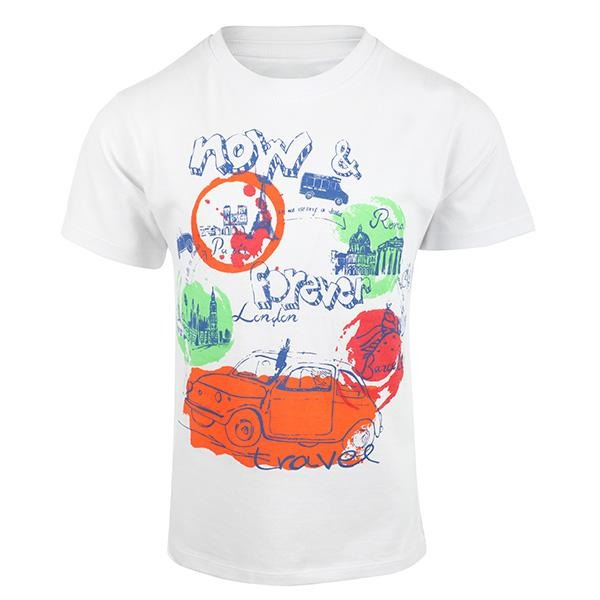 BOYS WHITE GRAPHIC T-SHIRT - ruffntumblekids