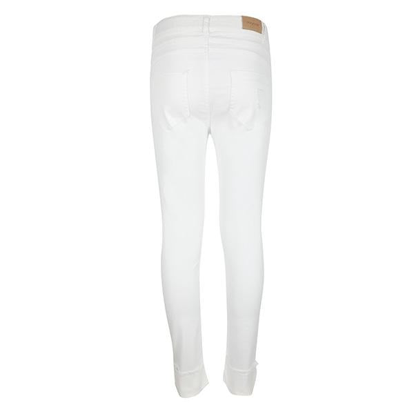 WHITE TWILL LONG TROUSER - ruffntumblekids