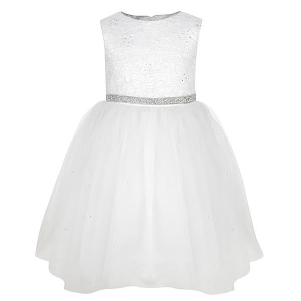 WHITE BALL DRESS WITH CUTE BOW