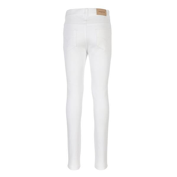 WHITE BASIC FLEECE TROUSERS - ruffntumblekids