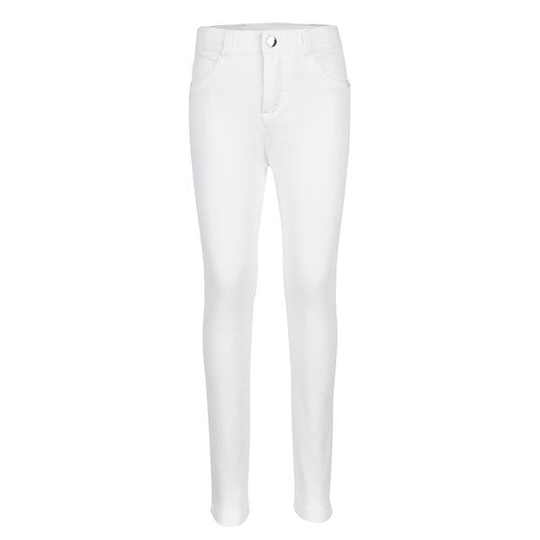 WHITE BASIC FLEECE TROUSERS