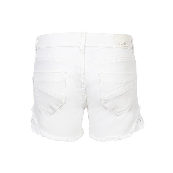 WHITE BUM SHORT