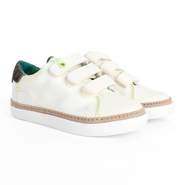 BOYS WHITE CASUAL VELCRO SNEAKERS