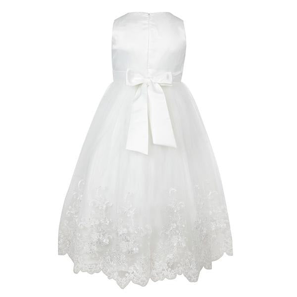 WHITE LACE HEM BALL DRESS - ruffntumblekids
