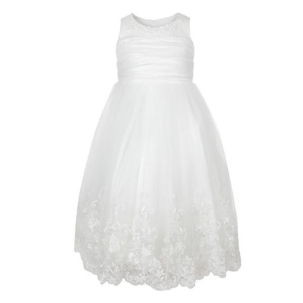 WHITE LACE HEM BALL DRESS