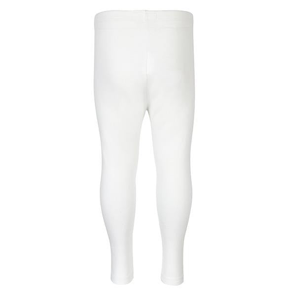 WHITE LONG BASIC LEGGINGS