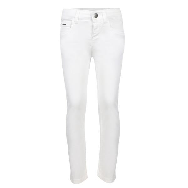 WHITE SLIM FIT SERGE TROUSER