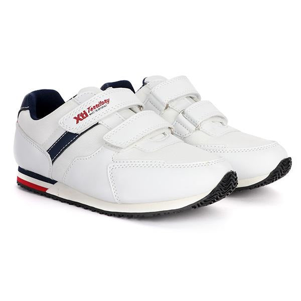 BOYS WHITE VELCRO CASUAL SNEAKERS