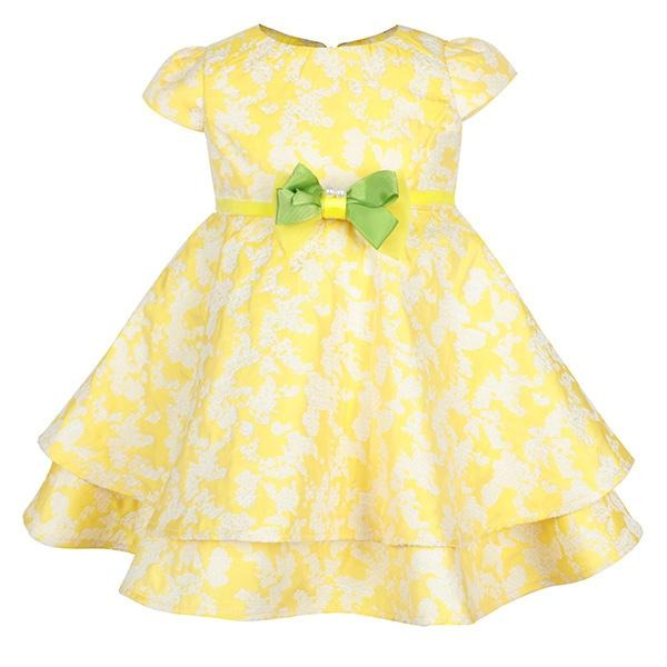 YELLOW CAP SLEEVE DRESS - ruffntumblekids