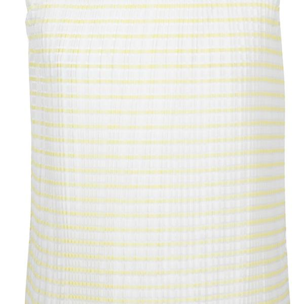 YELLOW PLEATED SHIFT DRESS