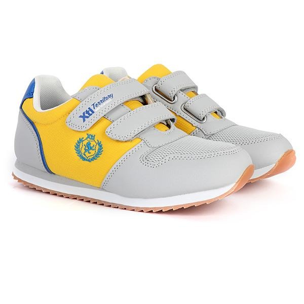 YELLOW VELCRO CASUAL SNEAKERS