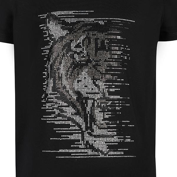 BOYS BLACK TIGER FACE DIAMANTE TEE - ruffntumblekids