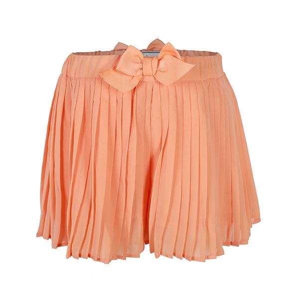 GIRLS PAPAYA PLEATED SHORTS - ruffntumblekids