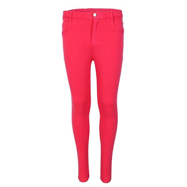 GIRLS MAGENTA BASIC FLEECE TROUSERS - ruffntumblekids
