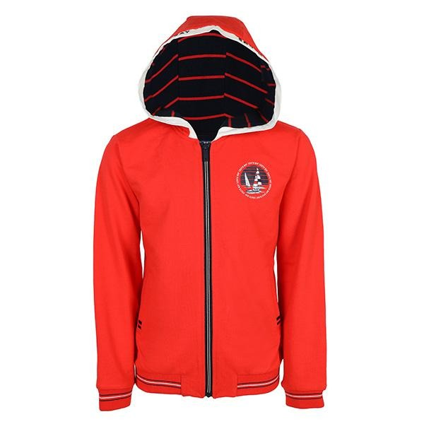BOYS RED LONG SLEEVES GRAPHIC HOODIE JACKET - ruffntumblekids
