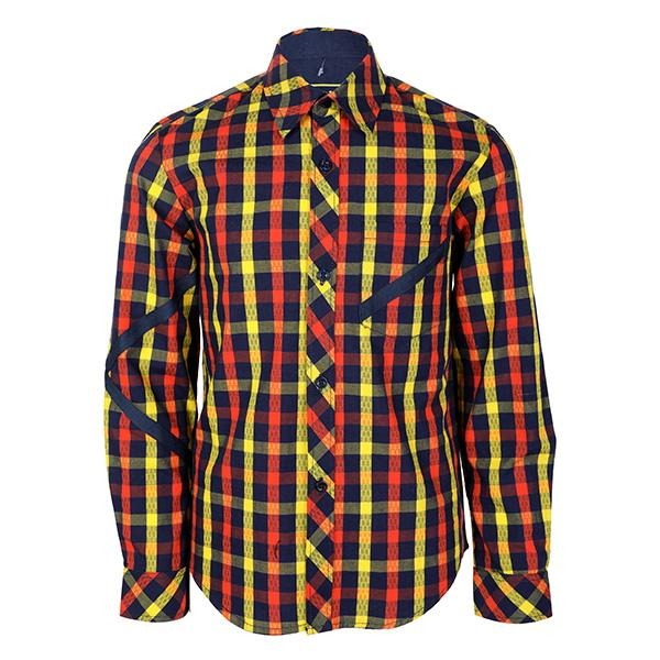 BOYS MULTICOLOR LONG SLEEVES CHECK SHIRT - ruffntumblekids