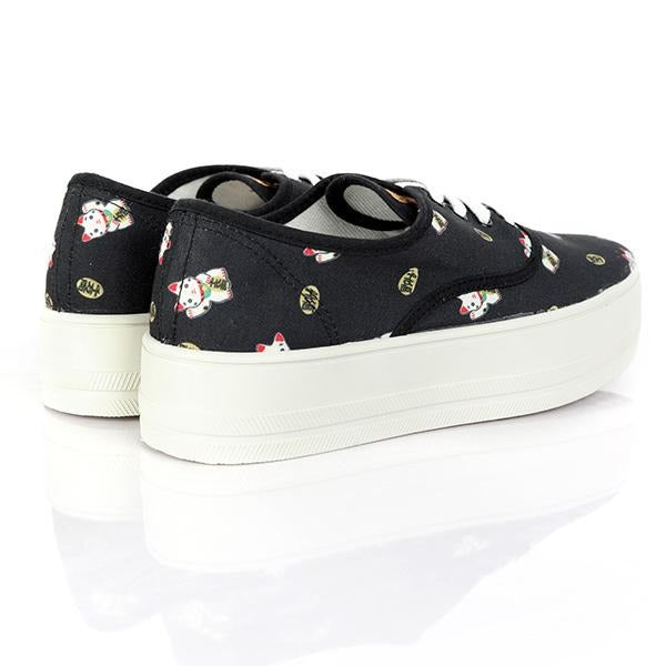 GIRLS BLACK SNEAKERS - ruffntumblekids