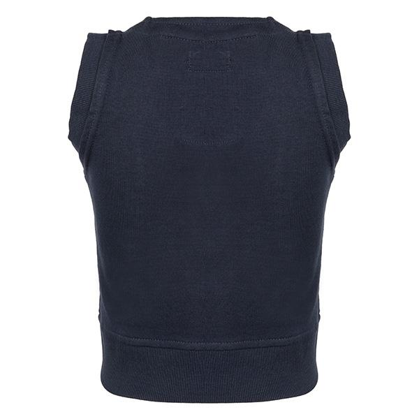 BOYS NAVY BOYS KNITTED SWEAT VEST - ruffntumblekids