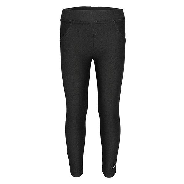 GIRLS BLACK KNITTED JEGGINGS - ruffntumblekids