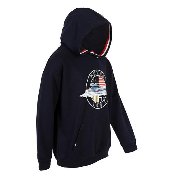 BOYS NAVY LONG SLEEVES HOODED PULLOVER - ruffntumblekids