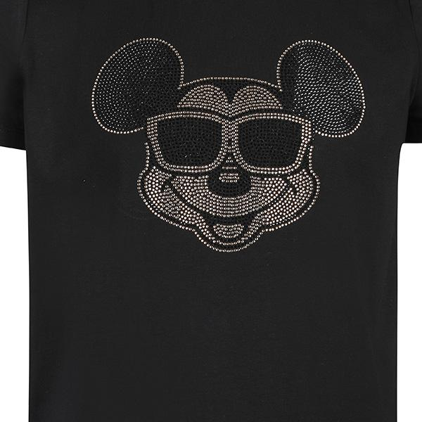 BOYS BLACK MICKEYMOUSE DIAMANTE TEE - ruffntumblekids