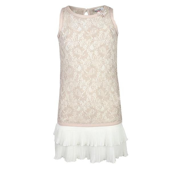 GIRLS TAUPE CHIC LACE DRESS - ruffntumblekids