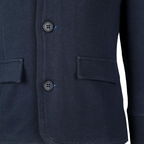 BOYS NAVY KNITTED SWEAT BLAZER - ruffntumblekids