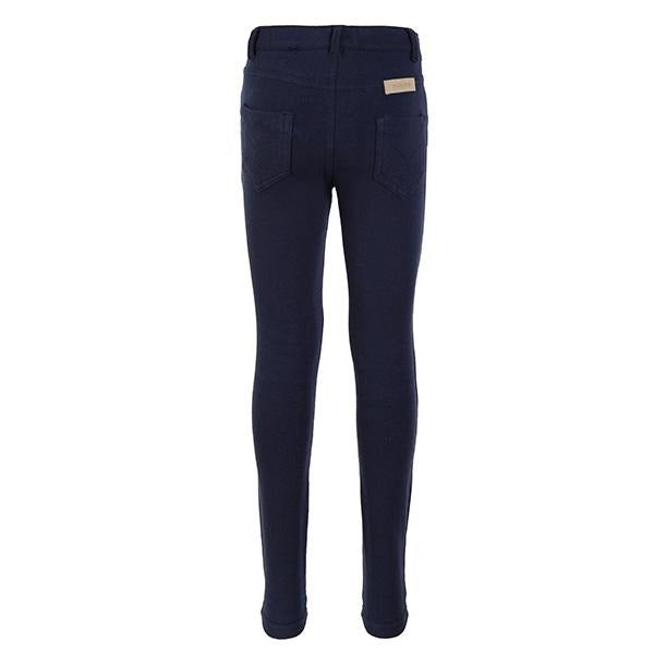 GIRLS NAVY BASIC FLEECE TROUSERS - ruffntumblekids