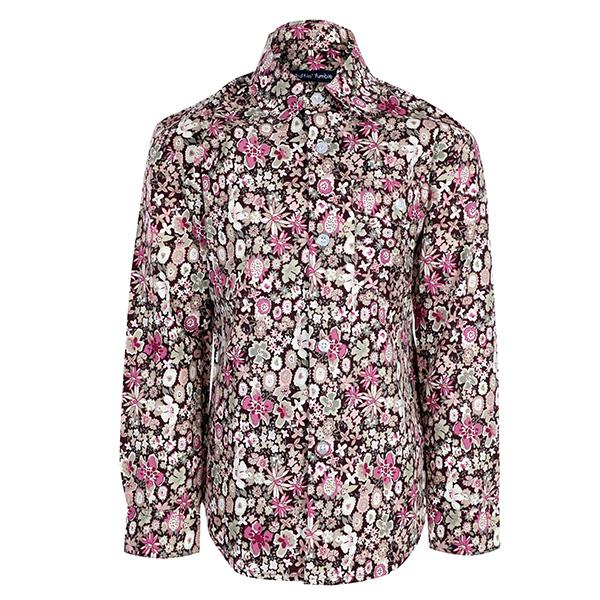 BOYS MULTI-COLOR LONG SLEEVES FLORAL PRINT SHIRT