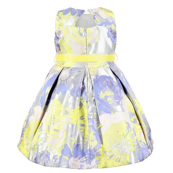 GIRLS MULTICOLORED DAMASK BALL DRESS - ruffntumblekids