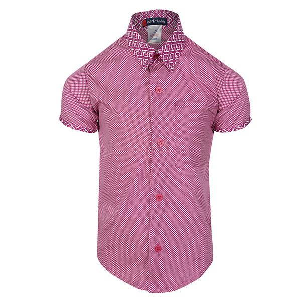BOYS VIOLET SHORT SLEEVES PRINT SHIRT - ruffntumblekids