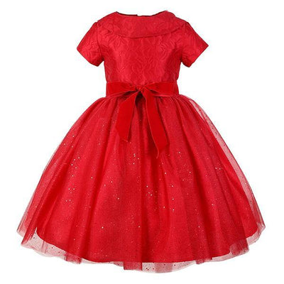 Damask Girls Party Dress Party Gown