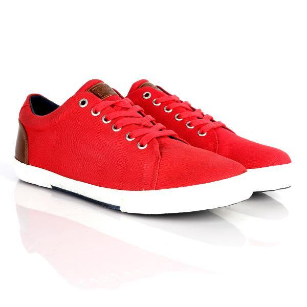 BOYS RED CASUAL SNEAKERS - ruffntumblekids