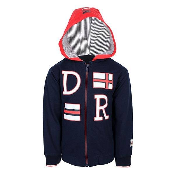Boys navy long sleeves zipper hoodie - ruffntumblekids