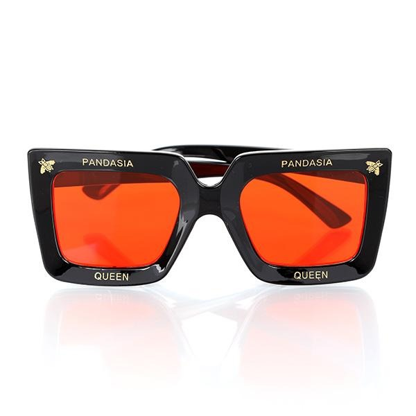 GIRLS BLACK AND RED SQUARE SUNGLASSES - ruffntumblekids