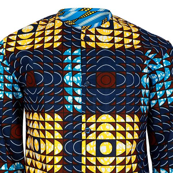 BOYS MULTI LONG SLEEVE ANKARA PRINT SHIRT - ruffntumblekids