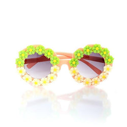 GREEN PEACH AND GREEN ROUND SUNGLASSESES - ruffntumblekids
