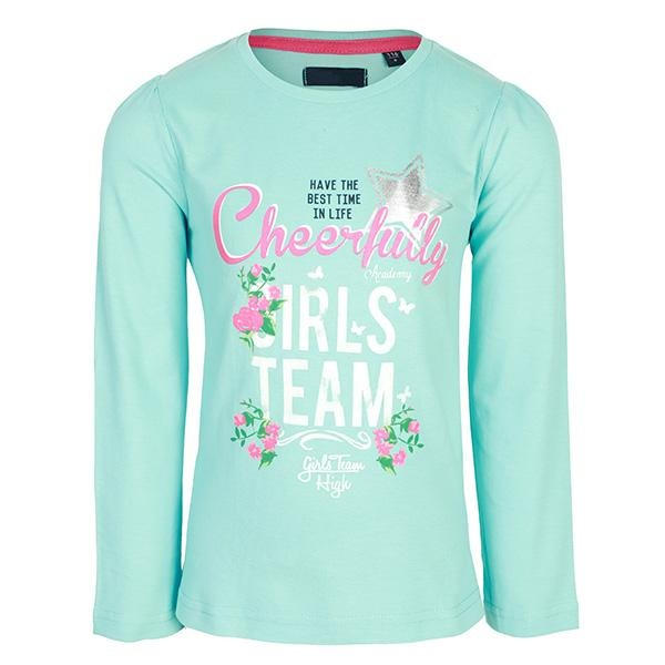 GIRLS AQUA LONG SLEEVES KNITTED T-SHIRT - ruffntumblekids