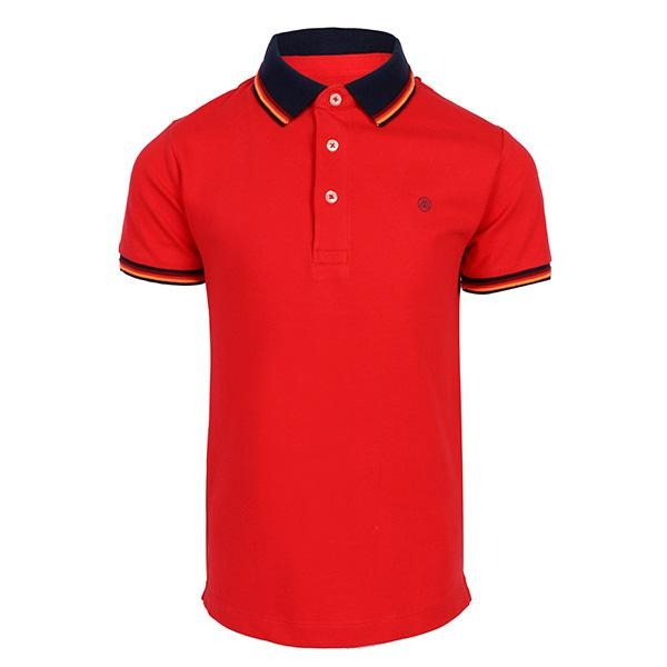 BOYS RED SHORT SLEEVES SEMI BASIC POLO - ruffntumblekids