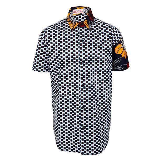 BOYS MULTI COLOR ANKARA SHORT SLEEVES SHIRT - ruffntumblekids